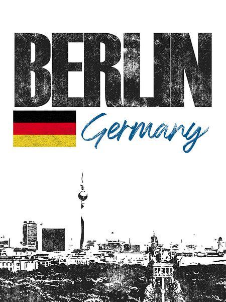 Berlijn Duitsland van Printed Artings