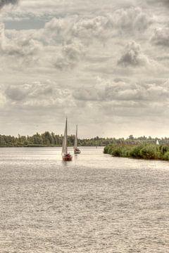 Bootjes op het water van Nella van Zalk
