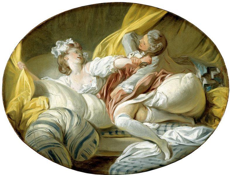 Jean-Honoré Fragonard. The Beautiful Servant  van 1000 Schilderijen