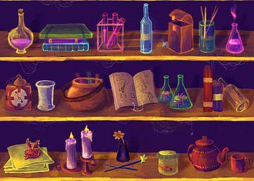 Magicians cupboard sur Petra van Berkum