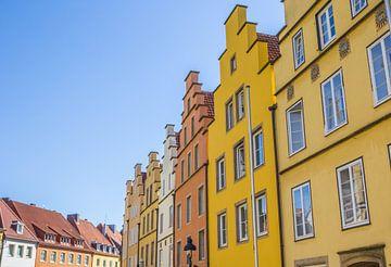 Kleurrijke trapgevels in Osnabrück van Marc Venema