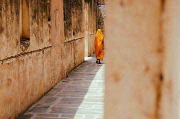 Mystiek India / Vrouw in geel gewaad van Christoph Kötteritzsch
