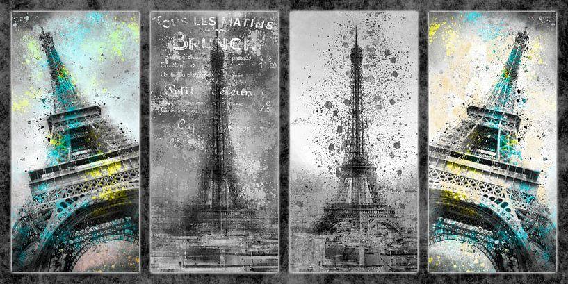 Eiffeltoren Collage van Melanie Viola