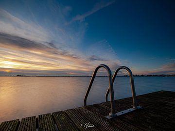 Sonnenuntergang See Belterwiede von Henri van Rheenen