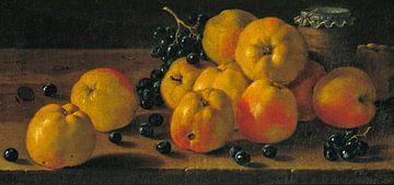 Stilleven met appels, druiven en een potje jam, Luis Eugenio Meléndez
