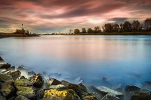 Zonsondergang, IJssel