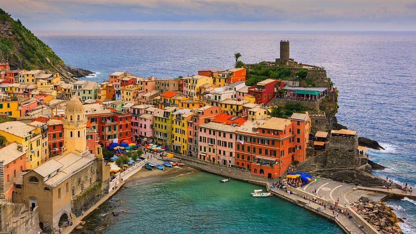 Vernazza, Cinque Terre, Italië van Henk Meijer Photography