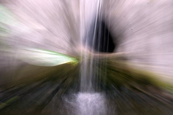 waterval in beweging
