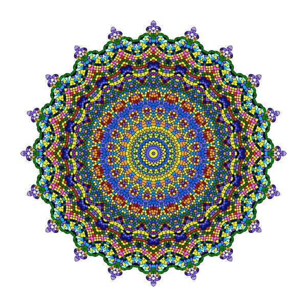 Mandala Blumentraum von Marion Tenbergen
