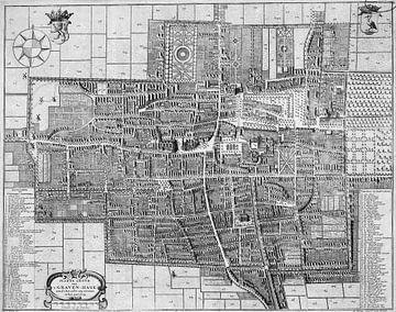Kaart van Den Haag uit 1729 van Atelier Liesjes