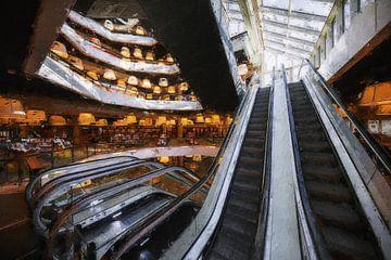 Bibliothek Rotterdam von Digitale Schilderijen