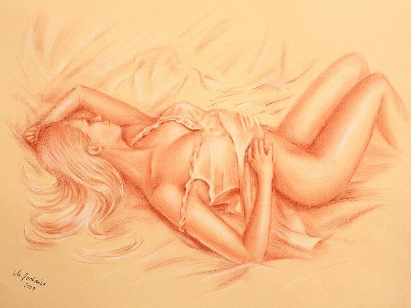 Vénus endormie - dessins érotiques sur Marita Zacharias