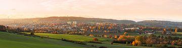 Panorama van Vaals tijdens de Herfst von John Kreukniet