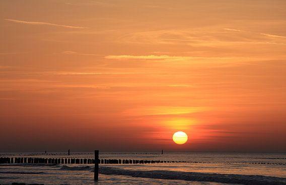 Zonsondergang in Domburg von Ludo Verhoeven