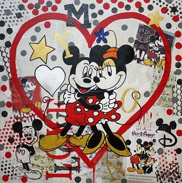 Mickey Mouse en Minnie Mouse - Documenten van Kathleen Artist Fine Art