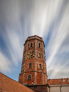 Longue exposition du beffroi de Menin sur Fotografie Krist / Top Foto Vlaanderen