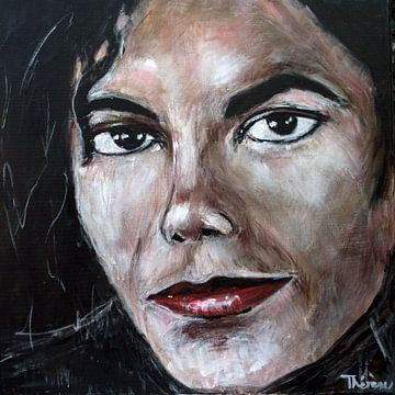 Portret van Michael Jackson, Michael Joseph Jackson van Therese Brals