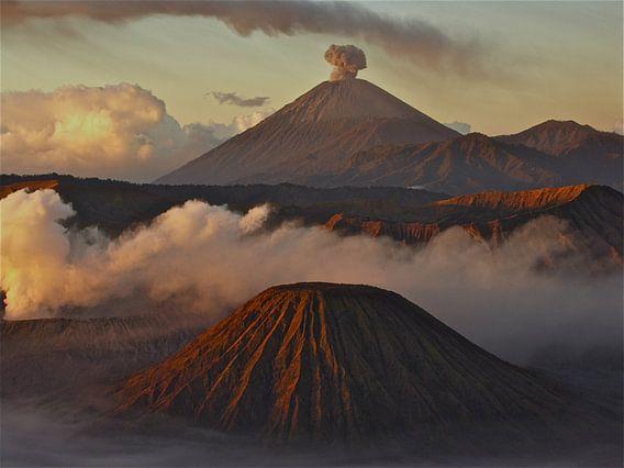 Vulkanen van de Bromo Java van  Iduna vanwoerkom