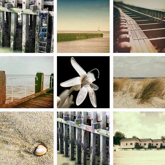 Collage van Zeeland in Vintage stijl