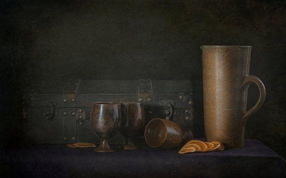 Kunstfoto als olieverfschilderij stilleven