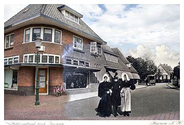 Hellingstraat / Zeeweg in Huizen ( oud & nieuw serie) von Vincent Snoek