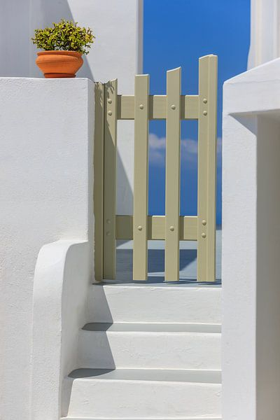 Imerovigli, Santorini, Griekenland van Henk Meijer Photography