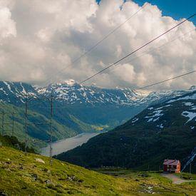 In de bergen bij Røldal, Noorwegen van Lars van 't Hoog