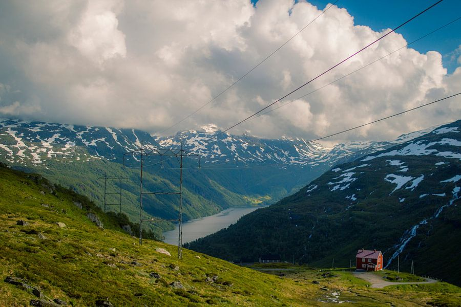 In de bergen bij Røldal, Noorwegen