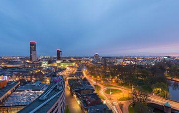 View from the Oldehove  in Leeuwarden at Night  von Kevin Boelhouwer