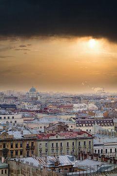 Skyline Sint Petersburg van Rinke van Brenkelen