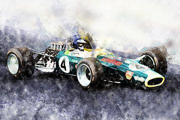 Jim Clark, Lotus 49, 1968 von Theodor Decker