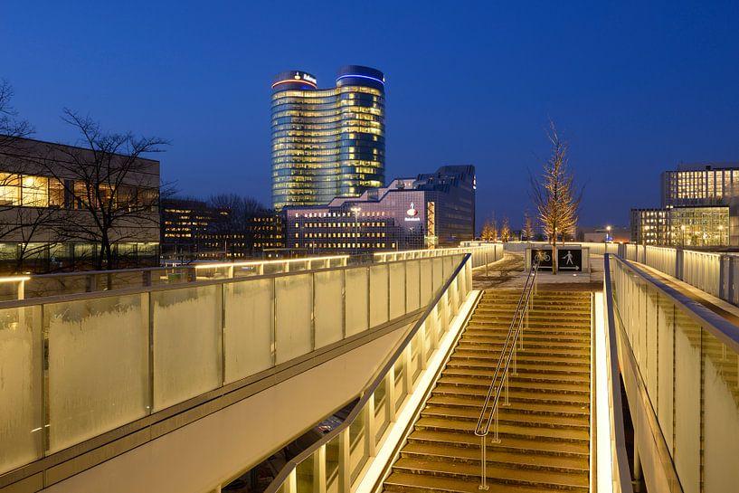 Moreelsebrug en Rabobank in Utrecht van Donker Utrecht