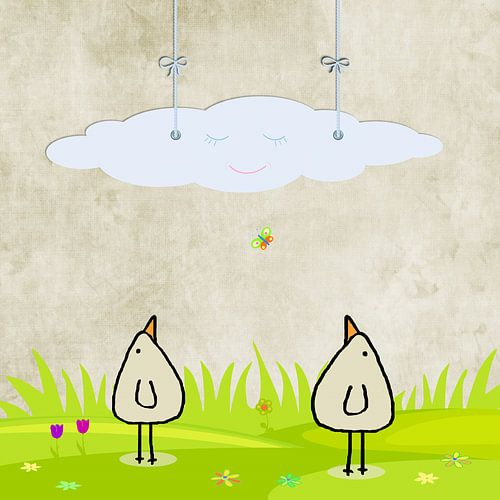 Lach cloud van Marion Tenbergen