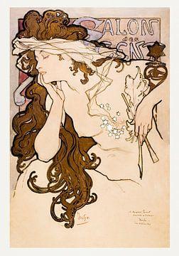 Poster Salon des Cent, Alphonse Mucha (1896) von Atelier Liesjes
