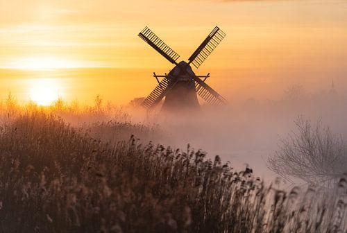 Hollandse zonsopkomst van Sander van der Werf