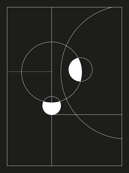 Minimal Black and White Circles von MDRN HOME