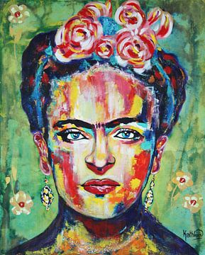 """FRIDA """"Rosa Blumen"""" von Kathleen Artist Fine Art"""