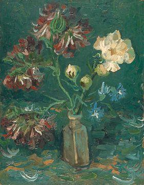 Pfingstrosen und blauer Rittersporn - Vincent van Gogh von Meesterlijcke Meesters