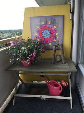 Kundenfoto: Blumen Mandala Happiness von Margreet Ubels
