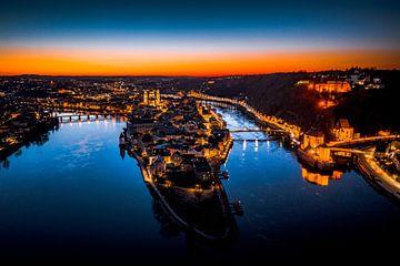 Passau bei Nacht mit Sonnenuntergang