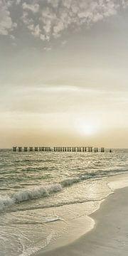 Gasparilla Island Sunset | Vintage Panorama van Melanie Viola