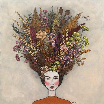 Des fleurs dans mes pensées (nr.2021-05) sur Kris Stuurop