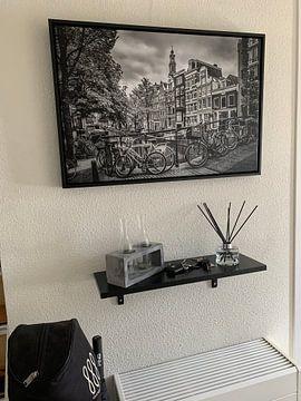 Klantfoto: AMSTERDAM Bloemgracht zwart en wit van Melanie Viola