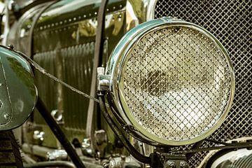 Vintage 1928 Bentley 4 1/2 Liter englischer Oldtimer-Scheinwerfer von Sjoerd van der Wal