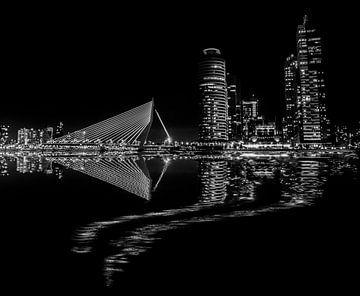 Rotterdam vue de nuit  sur Ton de Koning