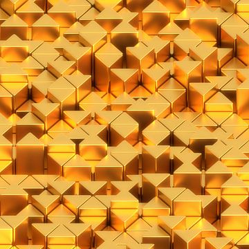 Prisms golden van Jörg Hausmann