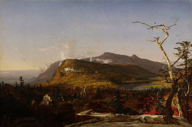 Jasper Francis Cropsey-Catskill Mountain House. von finemasterpiece