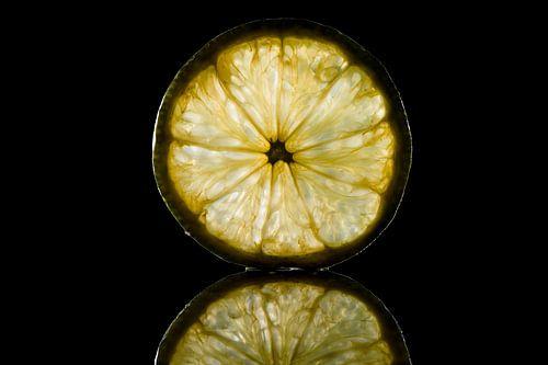 Een schijfje verfrissende citroen, fresh lemon