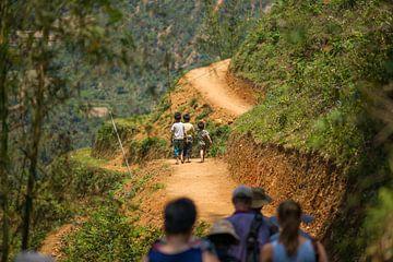 Children in mountain Sa Pa van