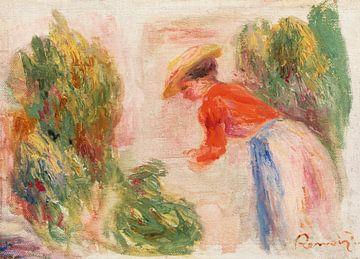 Frau pflückt Blumen, Renoir (1906-1910)